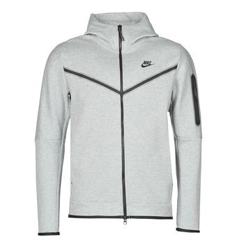 Textil Muži Teplákové bundy Nike M NSW TCH FLC HOODIE FZ WR Šedá / Černá
