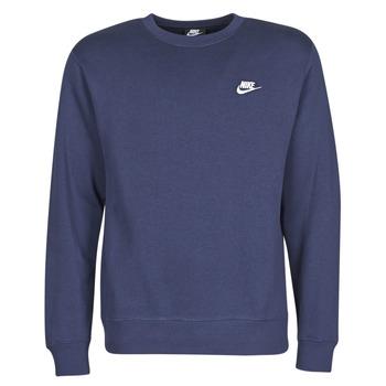 Textil Muži Mikiny Nike M NSW CLUB CRW BB Modrá