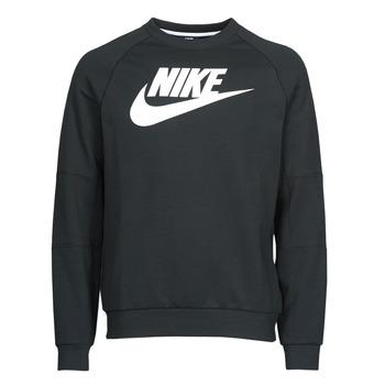 Textil Muži Mikiny Nike M NSW MODERN CRW FLC HBR Černá / Bílá