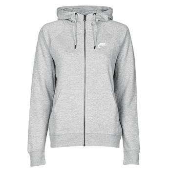 Textil Ženy Mikiny Nike W NSW ESSNTL HOODIE FZ FLC Šedá