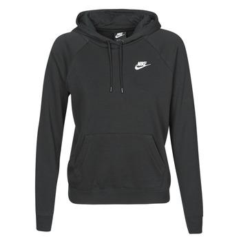 Textil Ženy Mikiny Nike W NSW ESSNTL HOODIE PO FLC Černá
