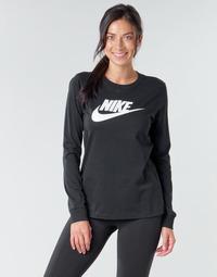 Textil Ženy Trička s dlouhými rukávy Nike W NSW TEE ESSNTL LS ICON FTR Černá