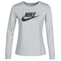 Textil Ženy Trička s dlouhými rukávy Nike W NSW TEE ESSNTL LS ICON FTR Šedá