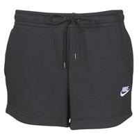 Textil Ženy Kraťasy / Bermudy Nike W NSW ESSNTL SHORT FT Černá