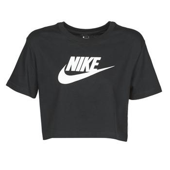 Textil Ženy Trička s krátkým rukávem Nike W NSW TEE ESSNTL CRP ICN FTR Černá