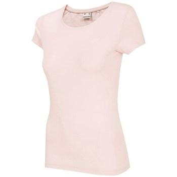 Textil Ženy Trička s krátkým rukávem 4F NOSH4 TSD001 Jasny Róż Růžové