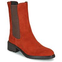 Boty Ženy Kotníkové boty Regard DAMGAN V2 VELOURS CHATAIGNE Červená