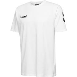 Textil Děti Trička s krátkým rukávem Hummel T-shirt enfant  hmlGO cotton blanc