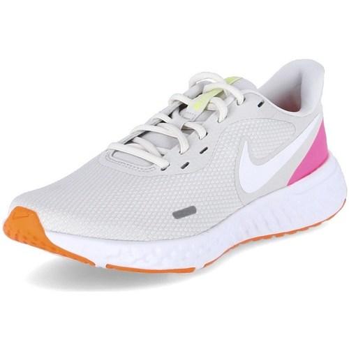 Boty Ženy Běžecké / Krosové boty Nike Revolution 5 Bílé, Šedé, Růžové