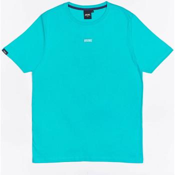 Textil Chlapecké Trička s krátkým rukávem Wrung T-shirt  Caution Reload bleu turquoise/bleu