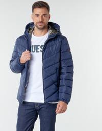 Textil Muži Prošívané bundy Guess SUPER LIGHT PUFFA JKT Tmavě modrá