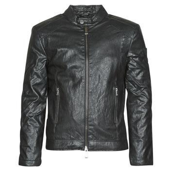 Textil Muži Kožené bundy / imitace kůže Guess PU LEATHER BIKER Černá