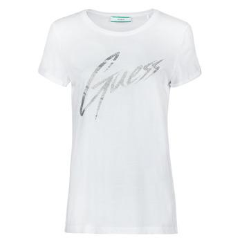 Textil Ženy Trička s krátkým rukávem Guess SS CN IVONNE TEE Bílá