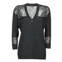 Textil Ženy Svetry / Svetry se zapínáním Guess IRENE CARDI SWTR Černá