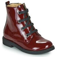 Boty Dívčí Kotníkové boty Citrouille et Compagnie HEMANU Bordó