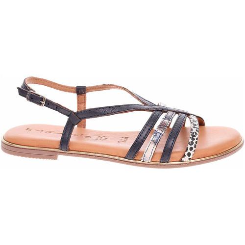 Boty Ženy Sandály Tamaris Dámské sandály  1-28157-24 navy comb Modrá