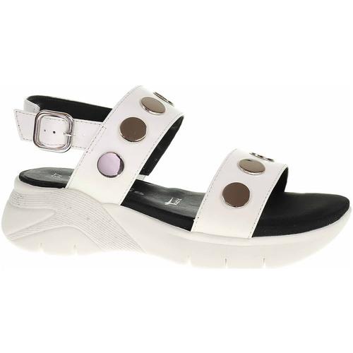 Boty Ženy Sandály Tamaris Dámské sandály  1-28217-24 white Bílá