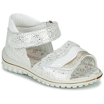 Boty Dívčí Sandály Primigi  Bílá / Stříbrná