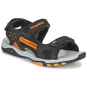 Boty Chlapecké Sportovní sandály Kangaroos K-Celtic Černá / Oranžová