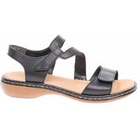Boty Ženy Sandály Rieker Dámské sandály  659C7-00 schwarz Černá