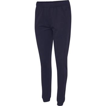 Textil Ženy Teplákové kalhoty Hummel Pantalon femme  hmlGO cotton bleu marine