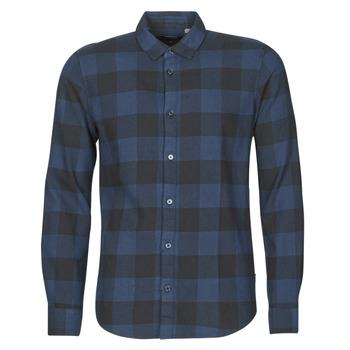Textil Muži Košile s dlouhymi rukávy Only & Sons ONSGUDMUND Tmavě modrá / Černá