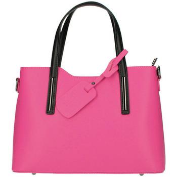 Taška Ženy Kabelky  Borse In Pelle Kožená fuchsiová dámská kabelka do ruky Maila růžová