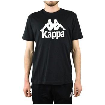 Textil Muži Trička s krátkým rukávem Kappa Caspar Tshirt Černé