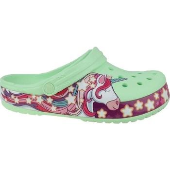 Boty Děti Žabky Crocs Fun Lab Unicorn Band Clog Bledě zelené