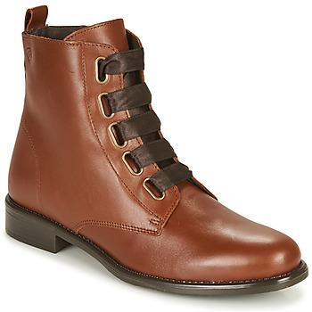 Boty Ženy Kotníkové boty Betty London NAMA Velbloudí hnědá