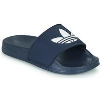 Boty Děti pantofle adidas Originals ADILETTE LITE J Tmavě modrá / Bílá