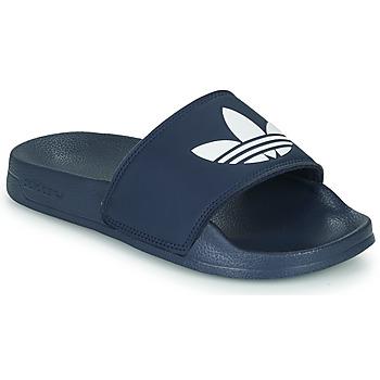 Boty Děti Nízké tenisky adidas Originals ADILETTE LITE J Tmavě modrá / Bílá