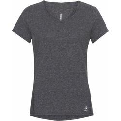 Textil Ženy Trička s krátkým rukávem Odlo T-shirt femme  Lou Linencool gris