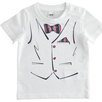 Textil Chlapecké Trička s krátkým rukávem Ido 4J692 Bílá