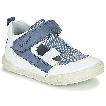 Boty Chlapecké Sandály Kickers JASON Bílá / Modrá