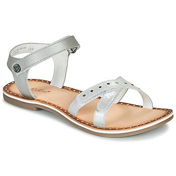 Boty Dívčí Sandály Kickers DIDONC Stříbrná