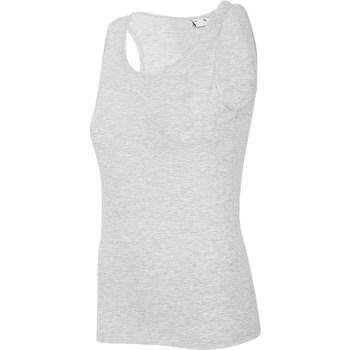 Textil Ženy Tílka / Trička bez rukávů  4F TSD003 Šedé