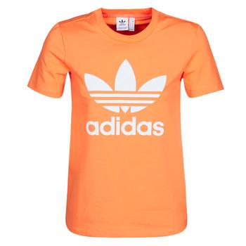 Textil Ženy Mikiny adidas Originals TREFOIL TEE Oranžová