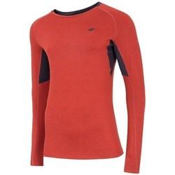 Textil Muži Trička s dlouhými rukávy 4F TSMLF002 Oranžové