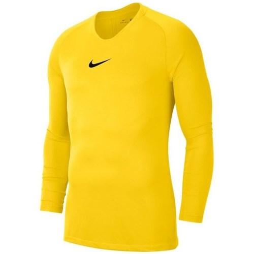 Textil Chlapecké Trička s dlouhými rukávy Nike JR Dry Park First Layer Žluté