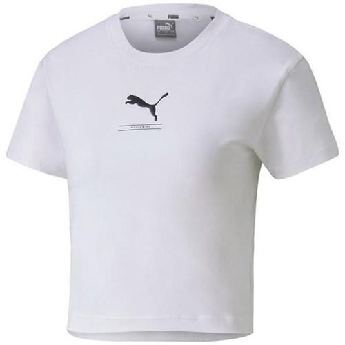 Textil Ženy Trička s krátkým rukávem Puma Nutility Fitted Tee Bílé
