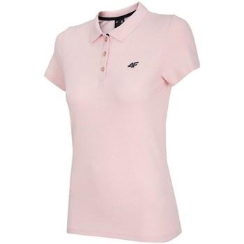 Textil Ženy Polo s krátkými rukávy 4F TSD007 Růžové