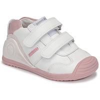 Boty Dívčí Nízké tenisky Biomecanics BIOGATEO SPORT Bílá / Růžová