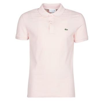 Textil Muži Polo s krátkými rukávy Lacoste PH4012 SLIM Růžová