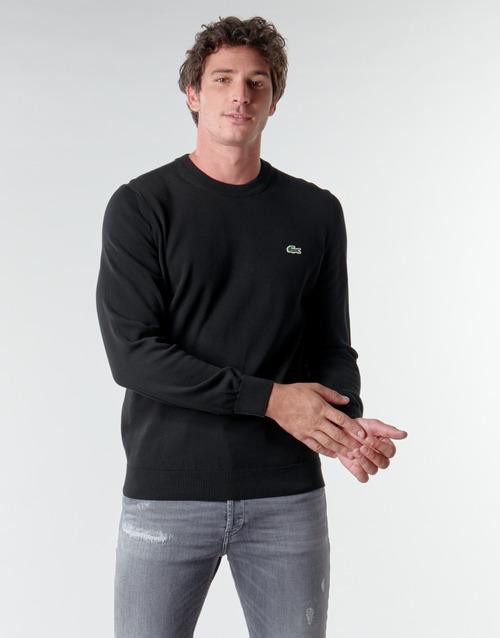 Textil Muži Svetry Lacoste AH1985 Černá