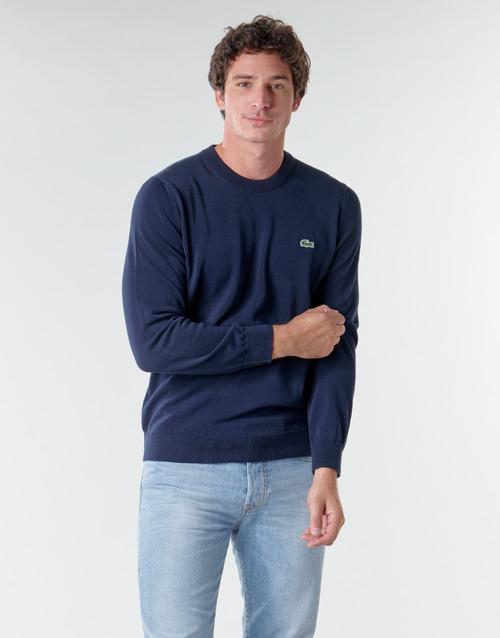 Textil Muži Svetry Lacoste AH1985 Tmavě modrá