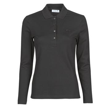 Textil Ženy Polo s dlouhými rukávy Lacoste PF5464 Černá