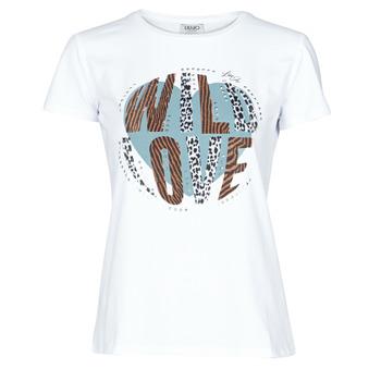 Textil Ženy Trička s krátkým rukávem Liu Jo WF0098-J5003 Bílá