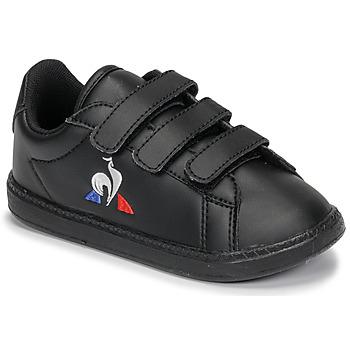 Boty Děti Nízké tenisky Le Coq Sportif COURTSET INF Černá