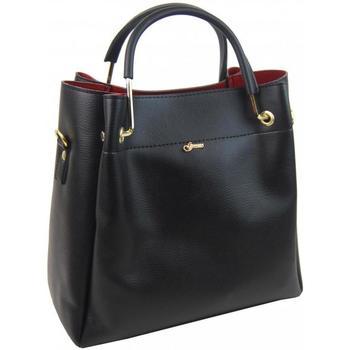 Taška Ženy Kabelky přes rameno Grosso Černo-červená elegantní dámská kabelka S728 černá